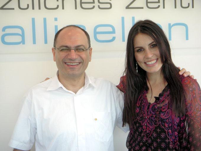 Dr. Nidal Assaf-Kramer und Miss Schweiz 2007 Amanda Ammann